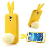 Silikonový obal na Samsung Galaxy S4 mini - žltý králík