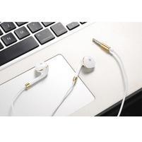 Lably handsfree slúchadlá s podporou basov - biela/zlatá