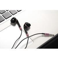 Lably handsfree slúchadlá s podporou basov - čierna/ružová