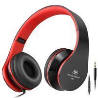 Fashion60 flexibilné uzavreté slúchadlá s handsfree - čierna/červená