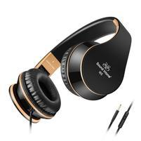 Fashion65 bassová flexi uzavreté slúchadlá s handsfree - čierna