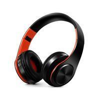 Fold náhlavné bluetooth slúchadla - čierne/oranžové