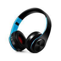 Fold náhlavné bluetooth slúchadla - čierne/modré