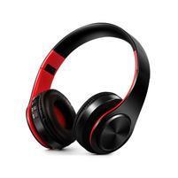 Fold náhlavné bluetooth slúchadla - čierne/červené