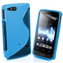 Gélové S-line puzdro na Sony Xperia Go- modré