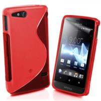 Gélové S-line puzdro na Sony Xperia Go- červené