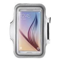 Fittsport puzdro na ruku pre mobil do rozmerov 143.4 x 70,5 x 6,8 mm - biele