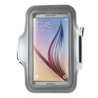 Fittsport pouzdro na ruku pro mobil do rozměrů 143.4 x 70,5 x 6,8 mm - šedé