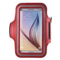 Fittsport puzdro na ruku pre mobil do rozmerov 143.4 x 70,5 x 6,8 mm - červené