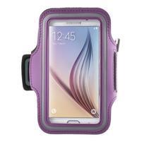 Fittsport puzdro na ruku pre mobil do rozmerov 143.4 x 70,5 x 6,8 mm - fialové