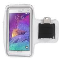 Gym bežecké puzdro na mobil do rozmerov 153.5 x 78.6 x 8.5 mm - biele