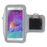 Gym bežecké puzdro na mobil do rozmerov 153.5 x 78.6 x 8.5 mm - šedé