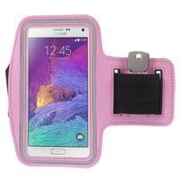 Gym bežecké puzdro na mobil do rozmerov 153.5 x 78.6 x 8.5 mm - ružové