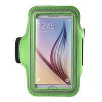 Fittsport pouzdro na ruku pro mobil do rozměrů 143.4 x 70,5 x 6,8 mm - zelené