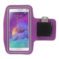 Gym bežecké puzdro na mobil do rozmerov 153.5 x 78.6 x 8.5 mm - fialové