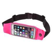 Sportovní kapsička přes pas na mobily do rozměrů 149 x 75 mm - rose