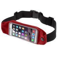 Športové kapsička pres pas na mobily do rozmerov 149 x 75 mm - červené