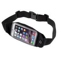 Športové kapsička pres pas na mobily do rozmerov 149 x 75 mm - čierné