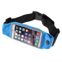 Športové kapsička pres pas na mobily do rozmerov 149 x 75 mm - modré