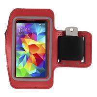 Run bežecké puzdro na mobil do veľkosti 131 x 65 mm - červené