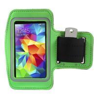 Run bežecké puzdro na mobil do veľkosti 131 x 65 mm -  zelené