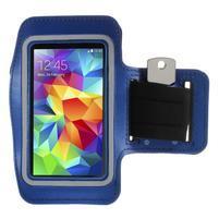 Run bežecké puzdro na mobil do veľkosti 131 x 65 mm - modré