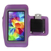 Run bežecké puzdro na mobil do veľkosti 131 x 65 mm - fialové