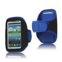 Fitness športové puzdro na mobil (140 x 75 mm) - modré