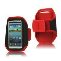 Fitness športové puzdro na mobil (140 x 75 mm) - červené