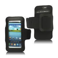 Fitness športové puzdro na mobil (140 x 75 mm) - čierne