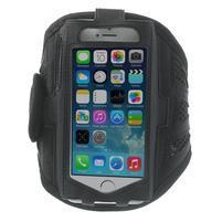 Absorb športové puzdro na telefón do veľkosti 125 x 60 mm - čierne