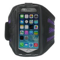 Absorb športové puzdro na telefón do veľkosti 125 x 60 mm -  fialové