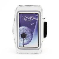 Športové puzdro na ruku až do veľkosti mobilu 140 x 70 mm - biele
