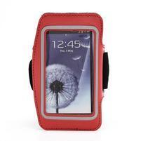 Športové puzdro na ruku až do veľkosti mobilu 140 x 70 mm - červené