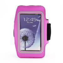 Športové puzdro na ruku až do veľkosti mobilu 140 x 70 mm - rose