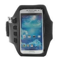 Sports Gym puzdro na ruku pre veľkosť mobilu až 140 x 70 mm - čierne
