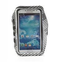Sports Gym puzdro na ruku pre veľkosť mobilu až 140 x 70 mm - biele
