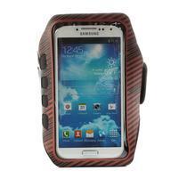 Sports Gym puzdro na ruku pre veľkosť mobilu až 140 x 70 mm - červené