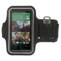 Čierne Sports Gym puzdro na ruku pre veľkosť mobilu až 150 x 70 mm