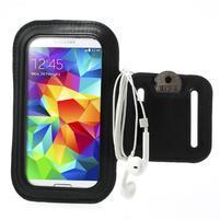Fit Gym puzdro na ruku pre telefón až do veľkosti 145 x 73 mm - čierne