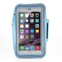 Soft puzdro na mobil vhodné pre telefóny do 160 x 85 mm - svetlomodré
