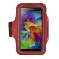 Fitsport puzdro na ruku pre mobil do veľkosti až 145 x 73 mm -  červené