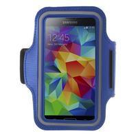 Fitsport puzdro na ruku pre mobil do veľkosti až 145 x 73 mm - tmavomodré
