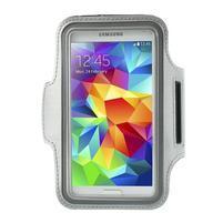 Fitsport puzdro na ruku pre mobil do veľkosti až 145 x 73 mm - šedé