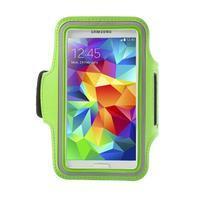 Fitsport puzdro na ruku pre mobil do veľkosti až 145 x 73 mm - zelené