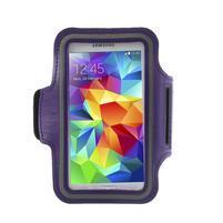 Fitsport puzdro na ruku pre mobil do veľkosti až 145 x 73 mm - fialové