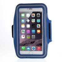 Soft puzdro na mobil vhodné pre telefóny do 160 x 85 mm - tmavomodré
