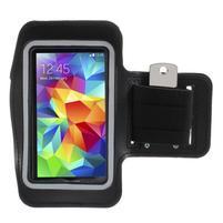 Run bežecké puzdro na mobil do veľkosti 131 x 65 mm - čierne