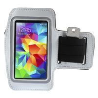 Run bežecké puzdro na mobil do veľkosti 131 x 65 mm - biele