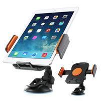 RotateCar otočný držiak tabletu v rozmere 92 - 205 mm do auta - oranžový